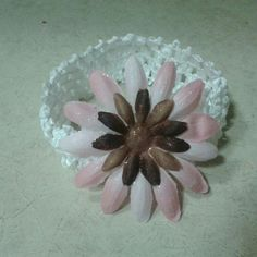Cute pink and brown flower headband $3.99