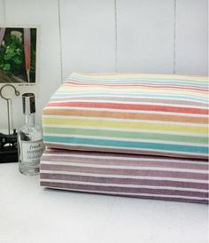 996d8b69788 Multicolor Stripe Cotton Gauze Rainbow or Purple 50 by landofoh. Rachel  Nelsen · Fabric