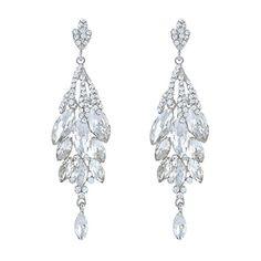 EVER FAITH Bridal Silver-Tone Teardrop Cluster Chandelier Earrings Clear Austrian Crystal EVER FAITH http://www.amazon.com/dp/B00E95XESC/ref=cm_sw_r_pi_dp_S5hxwb0CRKYFZ