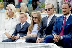 25th Anniversary of the Coronation of Sonja and Harald, Trondheim, Norway - 23 Jun 2016 Crown Princess Mette-Marit, Prince Sverre Magnus, Princess Ingrid Alexandra, Marius Borg Hoiby and Crown Prince Haakon 23 Jun 2016