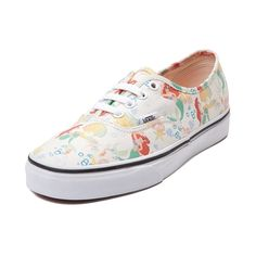 Shop for Disney x Vans Authentic Ariel Skate Shoe, Ariel White, at Journeys Shoes. Slip on your sea legs, and make an Authentic splash with Vans and Disneys The Little Mermaid! This Ariel themed Vans Authentic Skate Shoe flaunts fin-flipping fun with a Little Mermaid print canvas upper and breathable lining for premium comfort and style. Look carefully at each print to see if you can spot the hidden Mickey ears!