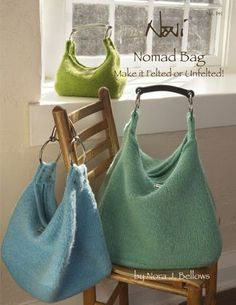 More felted bags