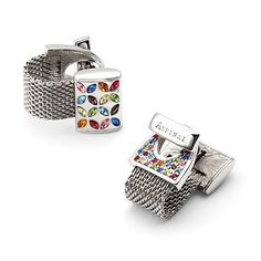 Multi-Coloured Wrap Around Cufflinks with SWAROVSKI ELEMENTS from Aspinal of London