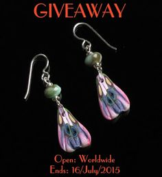 #Enter #giveaway for a chance to #win polymer clay #butterfly wing #earrings with sterling silver ear hooks Open: Worldwide Ends:16/July/2015