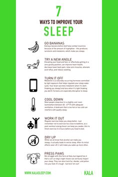 7 Ways to Improve Your Sleep  #sleep #kalasleep #startlastnight #selfcare