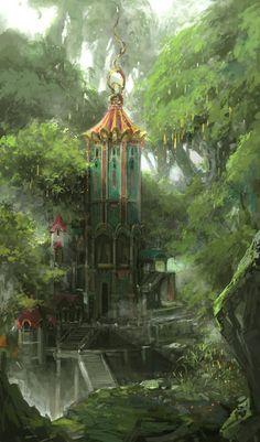 elf forest by artcobain on DeviantArt
