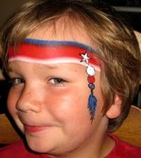 Face painting - 4th of July? I'm always looking for designs that boys will like. I think this one's going to be popular.