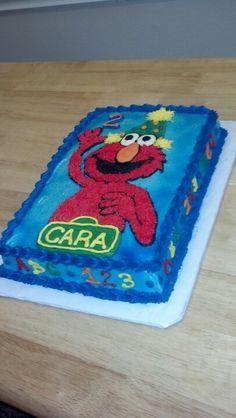 Elmo birthday cake BABY BIRTHDAY CAKE Pinterest Elmo