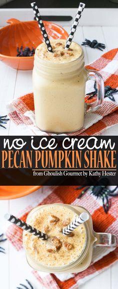 Vegan Pecan Pumpkin Shake | www.veggiesdontbite.com | #vegan #plantbased #glutenfree #veganhalloween #veganhalloweencookbook via @veggiesdontbite