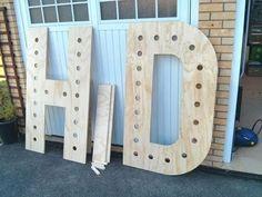 como hacer letras gigantes de madera