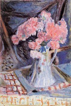 Painting Title: Bouquet of Flowers, c.1926   Artist: Pierre Bonnard (1867-1947)   Medium: Fine Art Painting Reproduction by TOPofART.com