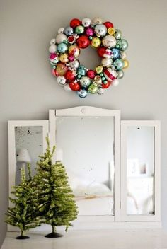 vintage ornament wreath.