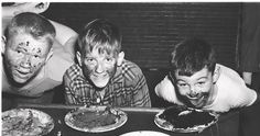 Old School Pie Eating Contest