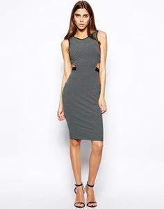 Lashes of London Jeska Textured Midi Dress