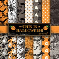 Hey, I found this really awesome Etsy listing at https://www.etsy.com/listing/164279243/14-halloween-digital-papers-pack2-paper