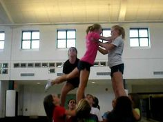Swedish Falls Cheer Stunt - YouTube - from the ground shows lift and finish I want for presentation