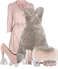 """""""Pink & Gray"""" by jaimie-a on Polyvore"""