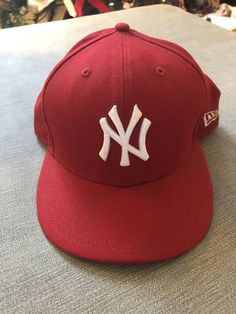 80ac14d479a New Era New York Yankees Fitted 7 5 8 Red White  fashion  clothing
