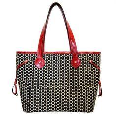 Mia Bossi Emma Black Cherry Diaper Bag
