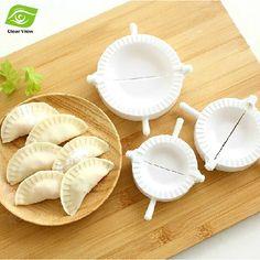 3Pcs/Set Kitchen Tools Home Plastic Dough Press Dumpling Mould Family Necessary Dumpling Pie Marker Free Shipping
