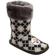 Pittsburgh Steelers Women's Argyle Fur Boot