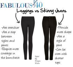 legging vs sinny jeans