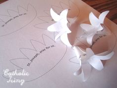 lily craft printable template...but with felt