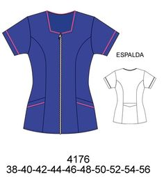 Delantales Dental Uniforms, Scrubs Pattern, Stylish Scrubs, Beauty Uniforms, Sewing Sleeves, Scrubs Uniform, Lab Coats, Fashion Design Sketches, Outfits