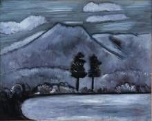 Marsden Hartley (United States, 1877-1943), Mt. Katahdin, Winter, oil on panel, 24 x 29 1/2 inches. Ogunquit Museum of American Art, Museum purchase, 1958.5