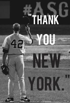 "Mariano Rivera  ... ""It's been a pleasure."""