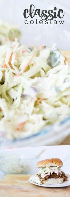Classic Coleslaw Recipe via @spaceshipslb