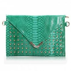 $12.96 Trendy Style Women's Crossbody Bag With Snake Veins and Rivets Design