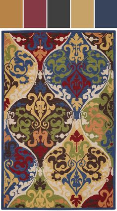 Madeira Rug In Multi Designed By Capel Rugs Via Stylyze