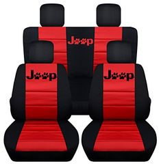 Fits 2013 to 2017 Jeep Wrangler 4 Door Paw Print Seat Covers 21 Color Options (Black and Red) Jeep Wrangler Seat Covers, Jeep Seats, Jeep Seat Covers, 4 Door Jeep Wrangler, Car Seats, Dog Car Accessories, Jeep Wrangler Accessories, Jeep Liberty, Jeep Jk