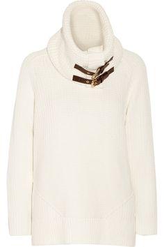 MICHAEL MICHAEL KORS Convertible cotton-blend sweater. #michaelmichaelkors #cloth #sweater