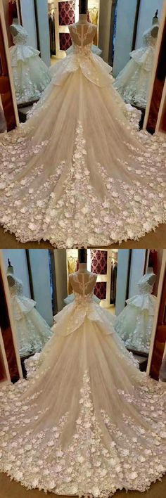Prom Dresses 2019, Sleeveless Prom Dresses, Wedding Dresses With Appliques, Prom Dresses Ball Gown #PromDressesBallGown #WeddingDressesWithAppliques #PromDresses2019 #SleevelessPromDresses