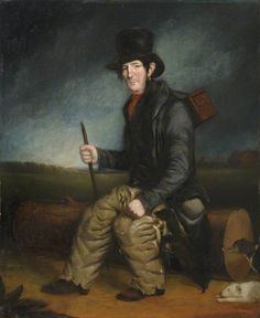 Bogie Theobald, the Ratcatcher, with His Dogs  by Henry Perlee Parker  (attributed to)       Date painted: 1840