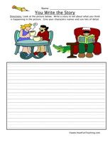 you-write-the-story-sneaky-alligator-worksheet