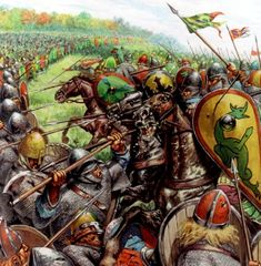 The Battle of Hastings occurred on 14 October 1066 during the Norman conquest of England, between the Norman-French army of Duke William II of Normandy and the English army under King Harold II. It took place at Senlac Hill, approximately 7 miles (11 kilometres) northwest of Hastings, close to the present-day town of Battle, East Sussex, and was a decisive Norman victory.