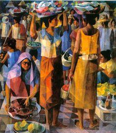 Vicente Silva Manansala January 22 1910 August 22 1981 was a Filipino cubist painter and illustrator vicente manansala Vicente manansala Early Modern Artwork, Vintage Artwork, Contemporary Art, Art And Illustration, Filipino Art, Philippine Art, Social Realism, Artist Painting, Sculpture