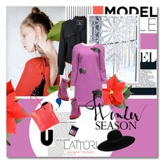 """A strange day - Lattori.com 17"" by undici ❤ liked on Polyvore featuring Mode, Forum, Versace, Lattori, MAC Cosmetics, SWEAR, McQ by Alexander McQueen und Maison Michel"