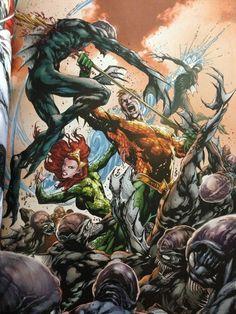 Mera and Aquaman by Ivan Reis and Joe Prado