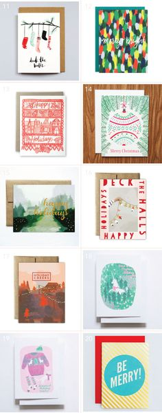 A mega holiday card roundup of 50 great designs!