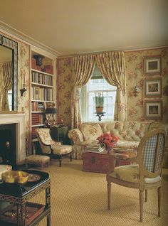 I want a country house..but i want a room like this one in the house where i can just sit and read or crochet knit and sew..very gorgeous..
