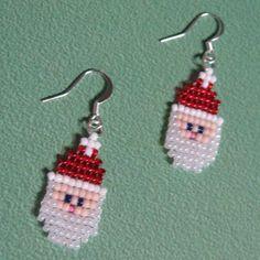 Santa beaded earrings