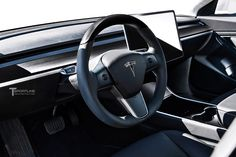 Tesla Model 3 Carbon Fiber Interior Accessories Concept by T Sportline