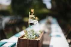 Flags as Wedding Table Numbers