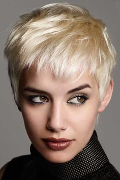 Short pixie crop hairstyle    The unique and trendy style of pixie haircut is the crop pixie haircut.