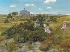 William Merritt Chase (American, 1849–1916), The Big Bayberry Bush, 1895. Oil on canvas. Parrish Art Museum, Water Mill, NY. Littlejohn Collection. 1961.5.5. Courtesy, Museum of Fine Arts, Boston.
