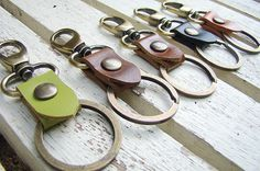 Hey, I found this really awesome Etsy listing at http://www.etsy.com/listing/162847930/leather-key-chainkey-fobkey-ring